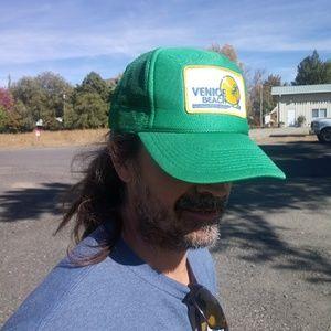 Vintage 1980's Venice Beach Mesh Back Trucker Hat